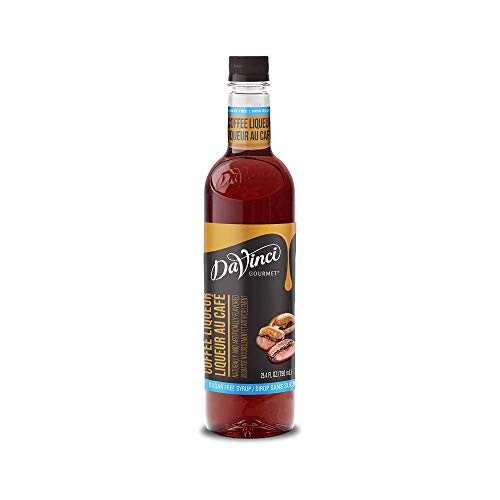 DaVinci Gourmet Sugar Free Syrup, Coffee Liqueur, 25.4 Ounce (Pack of 3)