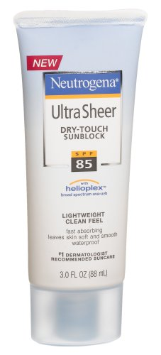Neutrogena Ultra Sheer Dry-Touch Sunscreen, SPF 85, 3 Ounces (Pack of 2)
