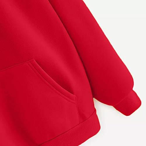 Camicetta Autunnale Sweater Stampa Donna Styledresser Da A Donna Rosso Maniche Con Lunghe Donna Tumblr Pullover nSxWZR