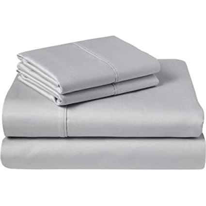 luxurious finish 4 pcs sleeper sofa bed sheets set 100 egyptian cotton solid silver grey full size 54 x72 x 5 rh amazon com sofa sleeper sheet sets sleeper sofa sheet set queen