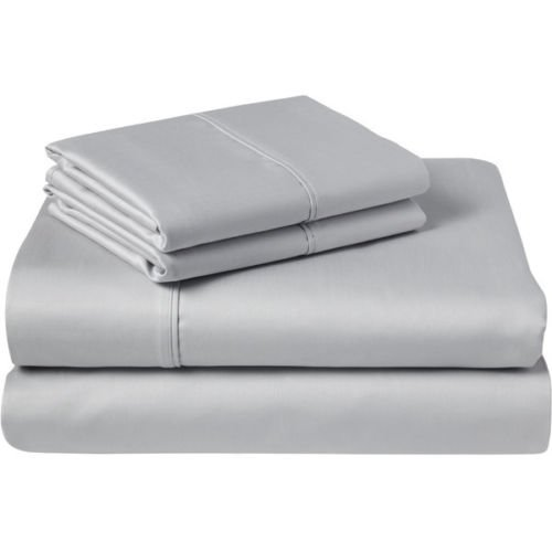 Luxurious Finish 4-PCs Sleeper Sofa Bed Sheets Set, 100% Egyptian Cotton - Solid Silver Grey ( Full Size 54
