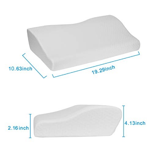 Memory Foam Pillow Neck Pillow for Sleeping, Cervical Pillow for Neck pain, Side Sleeper Pillow Contour Pillow for Side/Back/Stomach Sleeper, Ergonomic Orthopedic Pillow Comfort and Correct Spine