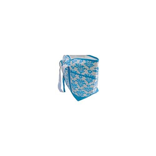 Borsa mare piscina donna Aqua di Mare bianca turchese a spalla da spiaggia 22331