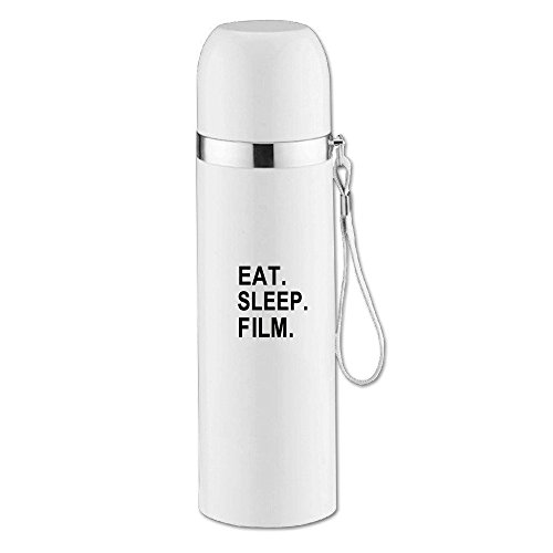 Eat Sleep Film-Gifts for Movie Makers and Video Making Enthusiasts Funny Stainless Steel Vacuum Insulated Travel Mug 14OZ/350ml