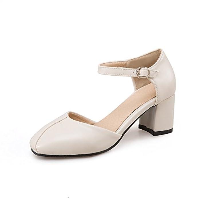 Scarpe E Borse Da Donna Col Tacco Qin amp;x Le Donne Del Blocco Tacchi Punta Quadrata Cinturino Alla Caviglia Sandali