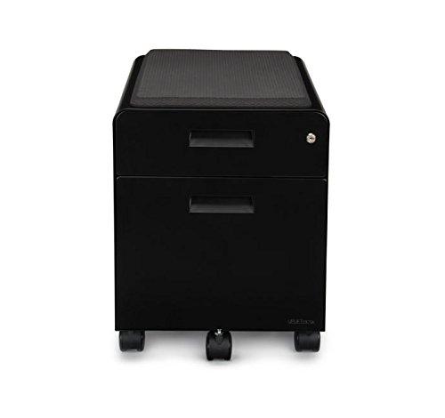 UPLIFT Desk - 2-Drawer File Cabinet with Seat, Rolling (Black) by UPLIFT Desk