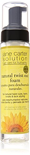 Jane Cosmetics Carter Solution Natural Twist Out Foam, 8 Ounce