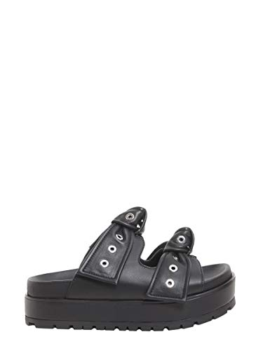 Alexander McQueen Women's 509020Whs401000 Black Leather Sandals