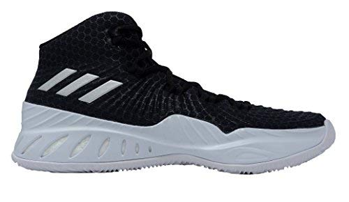 Picture of adidas Crazy Explosive 2017 NBA/NCAA Shoe Men's Basketball 10.5 Core Black-Silver Metallic-White