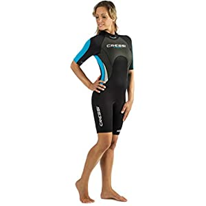 Cressi Tahiti – Womens Shorty Wetsuit 2.5mm, in Premium High Stretch Neoprene