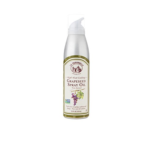 La Tourangelle, Grapeseed Oil Spray 5 Fl. Oz., High Heat, All-Natural, Artisanal, Great for Cooking, Sauteing, Marinating, and Dressing
