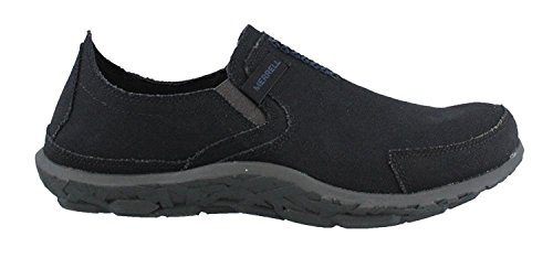 Merrell Mens Slipper Fashion Sneaker, Negro/Azul marino, 41.5 EU/7.5 UK