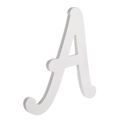 Darice U9188-a 9In White Wood Letter a