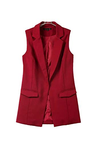 Office Lady Manteau Poches noir Jacket B Women Gilet jaune Functionaryb Casual long Manteau wAvzqIxC