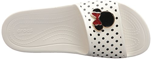 Crocs Womens Sloane Minnie Mouse Slide Bianco