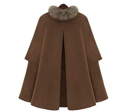 Abbigliamento Libero Colore Invernali Autunno Eleganti Poncho Stola Puro Vita Cappotto Calda Fashion Alta Termico Kamelfarbe Tempo Capa Baggy Vintage Donna Giacche YqwqOS