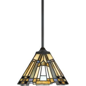 - Quoizel TFIK1508VA Inglenook Tiffany Mini Pendant Lighting, 1-Light, 100 Watts, Valiant Bronze (7