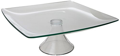 Style Setter Soho Pedestal Plate, 11.8-Inch, Clear