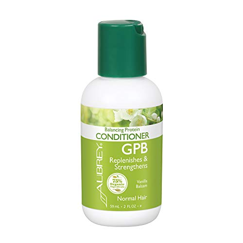 Aubrey GPB Balancing Protein Conditioner | Replenishes, Strengthens & Nourishes Damaged Hair | Aloe & Shea Butter | 75% Organic Ingredients | 2oz (Gpb Glycogen Protein Balancing Shampoo)
