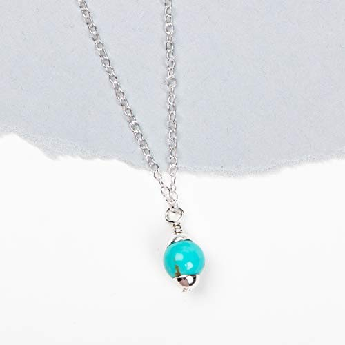 Mexican Turquoise Gemstone Drop Necklace (Strand Turquoise Necklace)