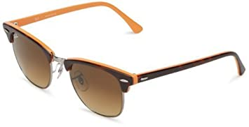 Ray-Ban Clubmaster 112685 Square Sunglasses,Top Dark Havana   Orange,49 mm d88f7bc71ced