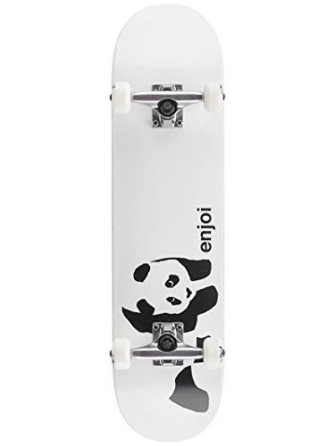 Enjoi Whitey Panda Complete Skateboard White 7.75