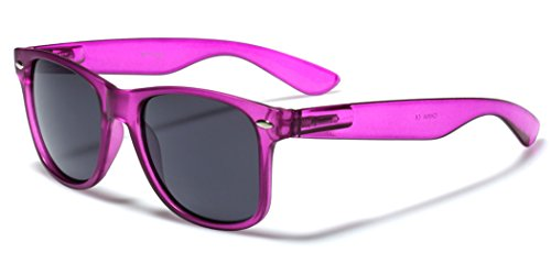 Classic Retro Fashion Sunglasses - Colorful Neon Frame Colors - Dark - Sunglasses Online Dark