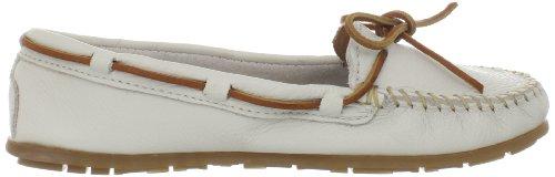 Minnetonka Boat Moc 611S - Mocasines de cuero para mujer Blanco (Off Whiteoff White)