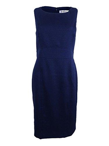 Kasper Women's Textured Sheath Dress, Bright Navy, 12