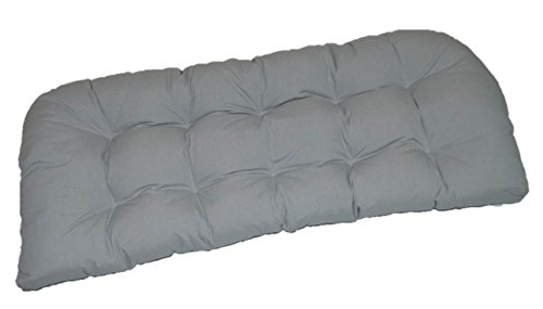 Resort Spa Home Decor Indoor Outdoor Cushion for Wicker Loveseat Settee – Solid Dove Gray Grey