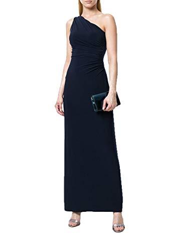 One Shoulder Jersey Dress - RALPH LAUREN Womens One-Shoulder Jersey Gown 12 Lighthouse Navy