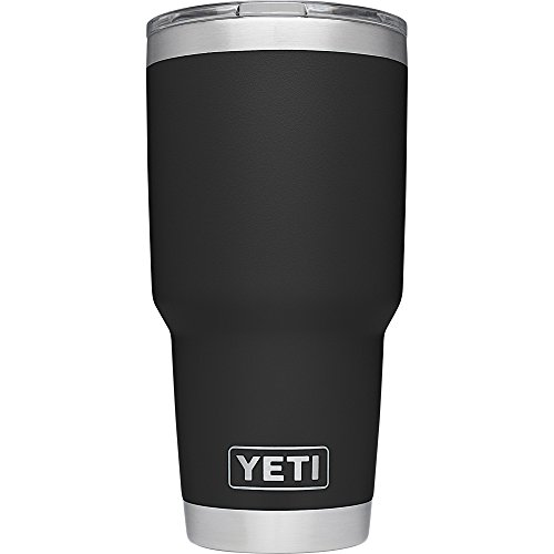 YETI Rambler 30 oz. Stainless Steel Vacuum Insulated Tumbler with Lid, Black