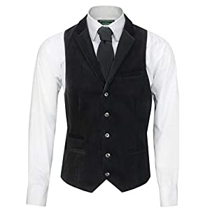 Xposed Mens Soft Corduroy Blazer Coat Vintage Retro Tailored Suit Jacket or Waistcoat