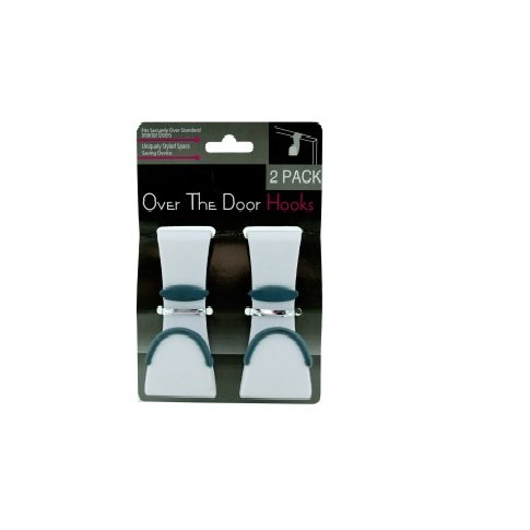 Over The Door Hook 2 Pack White Plastic Bathroom Towel Garment Robe Hanger (Door Garment Hanger compare prices)