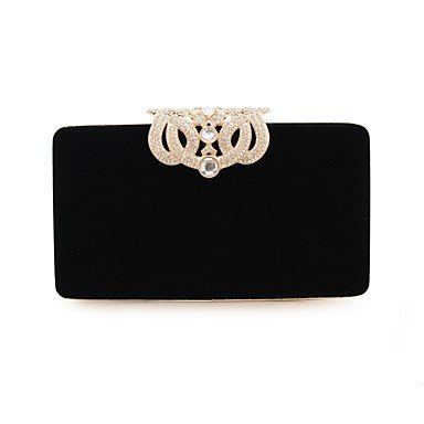 KLXEB Black Seasons Party Clutch Blue Formal Evening Royal For Bag Event Red Women;S All Flower Black Prq0gnPv