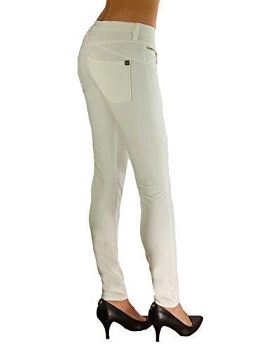 Kaos estrecho para mujer pantalones en colour crema Crema