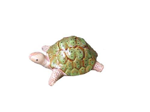 Bosmere W103G Garden Ceramic Lawn Ornament, Turtle, Green For Sale