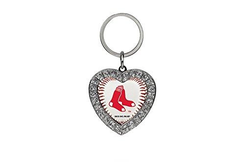 MLB Boston Red Sox Rhinestone Heart Keychain