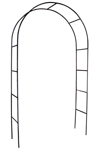"Choies Arch Iron Black Outdoor Patio for Climbing Plant and Wedding,Round Top, 4'5"" Wide x 7'8"" High"
