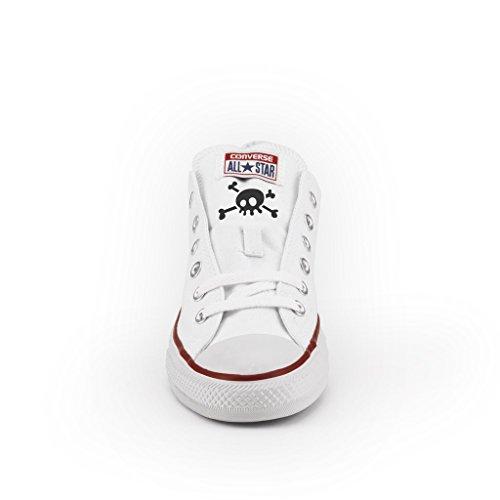 Bassa Converse All Multicolor artigianali Teschi Personalizzate scarpe Star twRwSUq