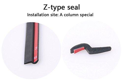 Black Z-shape Waterproof Sealing Strip 4M Universal Car Z-Shape Rubber Seal Weather Strip Hollow Door Window Edge Moulding Trim Decorate Weatherstrip