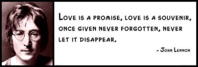 Amazon Com Wall Quote John Lennon Love Is A Promise Love Is A