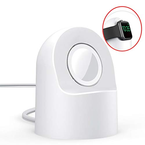 AMZ Original Watch Charger Stand Compatible for Apple Watch Series4/3/2/1/44mm/40mm/42mm/38mm - Fast Charging Watch Charger Station with Integrated Cable Management Slot