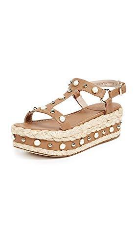 (Stuart Weitzman Women's Be Raffia Flatform Sandals, Miel, 9 M US )