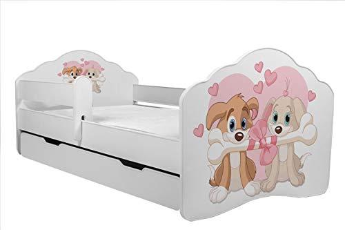 KOBI Lettino per Bambini Letto Cani Misura 160 x 80 cm con Materasso e cassetto