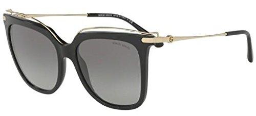 Giorgio Armani Women's 0AR8091 Black/Grey Gradient Sunglasses