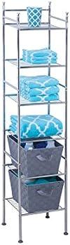 Honey-Can-Do BTH-03484 6 Tier Metal Bathroom Shelf