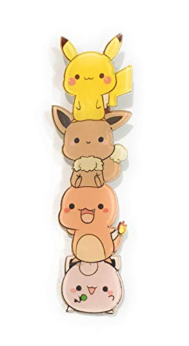 Kawaii Eevee Charmander Jigglypuff Togepi Squirtle Psyduck Pikachu Backpack Small Cute Pin Stacked Characters Colorful Unique (Kawaii Pins)