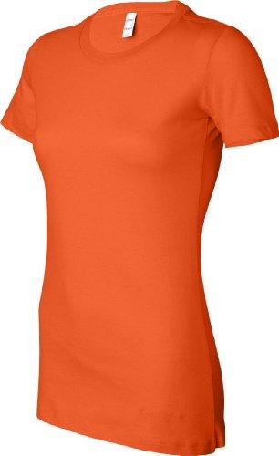 Bella favoritos de las mujeres camiseta Anaranjado