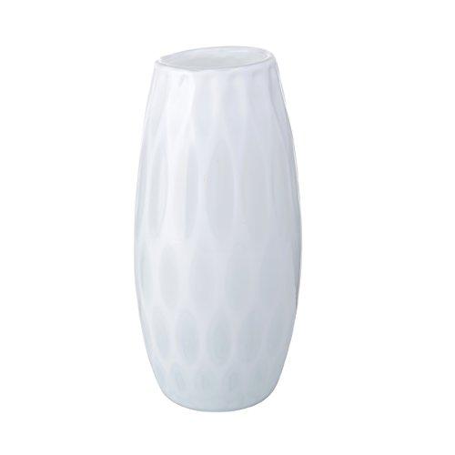 Mikasa Artisan Series White Whisper Confetti Vase, 9.5-Inch